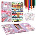 Unicorn Coloring Pads Set for Kids, Mess Free Coloring Activity Notebook, 120 Coloring Pages and 20 Coloring Pencils for Drawing Painting, Unicorn Birthday Gift for Girls Boys Age 2 3 4 5 6 7 8