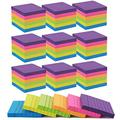 Nicunom 30 Pads Sticky Notes, 6 Bright Color Lined Self-Stick Notes 3 in x 3 in, 100 Sheets/Pad, Total 3000 Sheets, Self-Sticky Notes for Studying, Working, Shopping