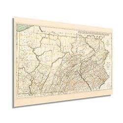 Historix Vintage 1792 Pennsylvania State Map - 16x24 Inch Pennsylvania Vintage Map Wall Art - Pennsylvania Wall Map - Map of Pennsylvania State - Vintage Pennsylvania Map - PA Wall Art (2 Sizes)