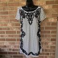 Anthropologie Dresses   Anthropologie Anthro Postmark Striped Dress   Color: Black/White   Size: M