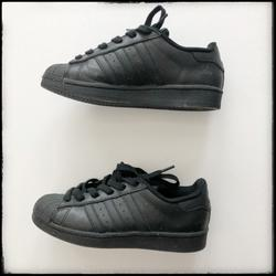 Adidas Shoes | Adidas Superstar - Big Kids Casual Shoes | Color: Black | Size: 4b