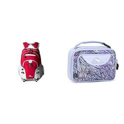 High Sierra Loop Backpack And Matching Lunch Bag, Pink Punch/White