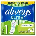 Always Ultra Normal Taille 1 des Serviettes Hygiéniques 64 Unités