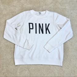 Pink Victoria's Secret Tops   2$30 Vs Pink Mesh Pullover Sweatshirt   Color: Black/White   Size: S