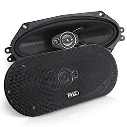 """3-Way Universal Car Stereo Speakers - 300W 4"""" x 10"""" Triaxial Loud Pro Audio Car Speaker Universal OEM Quick Replacement Component Speaker Vehicle Door/Side Panel Mount Compatible - Pyle PL410BK (Pair)"""