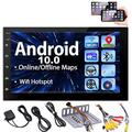 Android 10.0 Car Stereo Touch Screen Car Radios with Bluetooth Double Din Head Unit 7 inch GPS Navigation 2 Din Video Music Player in Dash Headunit Support WiFi Mirror Link Steering Wheel Control FM