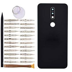 TA-1100 Battery Door Cell Phone Backs Replacement for Nokia 7.1 TA-1097 TA-1085 TA-1095 TA-1096 Black