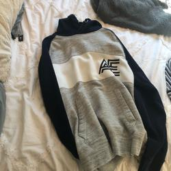 American Eagle Outfitters Tops   American Eagle Unisex Hoodie Blue And Gray   Color: Blue/Gray   Size: M