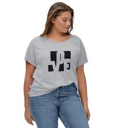 Plus Size Women's Love Ellos Tee by ellos in Heather Grey Love (Size 4X)