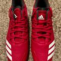 Adidas Shoes | Adidas Icon Bounce Casual Baseball Shoes Red 12.5 | Color: Red | Size: 12.5
