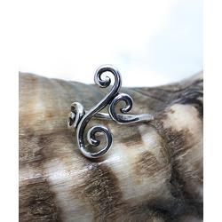Sevil 925 Women's Rings - Sterling Silver Swirl Ring