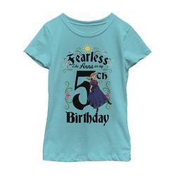 Fifth Sun Girls' Tee Shirts TAHI - Frozen Tahi Blue 'Like Anna on My Fifth Birthday' Fitted Tee - Toddler & Girls
