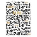 Graphique de France Journals and Planners multi - Black & Gold 'Blah Blah' Soft-Cover Journal