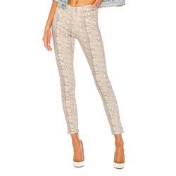 AG Jeans Women's Denim Pants and Jeans SILK - Ivory Python Farrah Skinny Jeans - Women