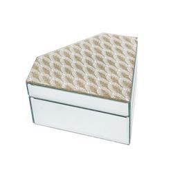 Philip Whitney Diamond Fan Mirror BoxMirrored, Size 3.5 H x 6.5 W x 7.5 D in   Wayfair 46120