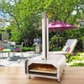 Gyber Fremont Stainless Steel Countertop Wood-Fired Pizza Oven in SilverSteel in Brown/Gray, Size 31.9 H x 15.4 W x 29.0 D in | Wayfair GB040B