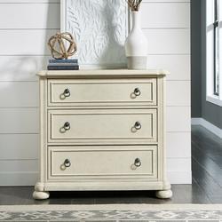 Birch Lane™ Mclin 3 Drawer Standard Dresser Chest Wood in Brown/Red/White, Size 36.0 H x 39.0 W x 19.0 D in | Wayfair