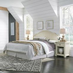 Birch Lane™ Mclin Headboard & 2 Nightstands Wood in Brown/White, Size King   Wayfair 7939F89EBC51456CB47C8133E2152244