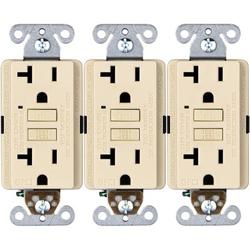 Faith 20-Amp GFCI Duplex Outlet in White, Size 4.13 H x 1.68 W x 1.55 D in   Wayfair GLS-20A-WH-10