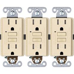 Faith 15-Amp GFCI Tamper Resistant Duplex Outlet in White, Size 4.13 H x 1.68 W x 1.55 D in | Wayfair GLS-15ATR-WH-10