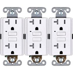 Faith 20-Amp GFCL Tamper Resistant Duplex Outlet in White, Size 4.13 H x 1.68 W x 1.55 D in | Wayfair GLS-20ATR-WH-10