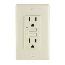 Faith 15-Amp GFCI Duplex Outlet in White, Size 4.13 H x 1.68 W x 1.55 D in | Wayfair GLS-15A-WH-10