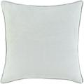 Birch Lane™ Archer Square Cotton Pillow Cover Polyester/Polyfill in Green, Size 20.0 H x 20.0 W x 5.0 D in   Wayfair