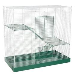 "Ware Manufacturing Cage w/ Ramp, Metal in White, Size 28""H X 30""W X 15""D 