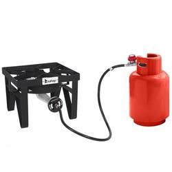 Winado 1-Burner Propane Outdoor Stove Cast Iron in Black/Gray, Size 15.7 H x 15.7 W x 12.6 D in | Wayfair 989323351306