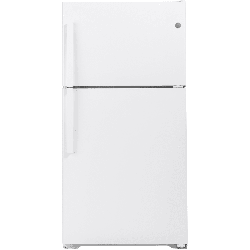 GE GIE22JTNR 33 Inch Wide 21.9 Cu. Ft. Energy Star Rated Top Mount Refrigerator with Ice Maker White