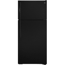 GE GTS17DTNR 28 Inch Wide 16.6 Cu. Ft. Top Mount Refrigerator with LED Lighting Black