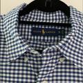 Ralph Lauren Shirts   Ralph Lauren Mens Button Down Shirt   Color: Blue/White   Size: Xl