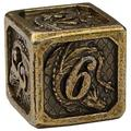 DND Metal Dice Set by Dragon Nest Store |7 Die Heavy Polyhedral D&D Engraved Dice with Dragon | Ideal for Dungeons and Dragons, RPG, Board and Table Games