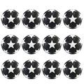 CLISPEED Table Soccer Foosballs Replacement Mini Black and White 32mm Table Soccer Balls Tabletop Games Official Balls Parts Accessories 12pcs