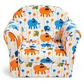 Costzon Kids Sofa, Children Armrest Chair with Pattern, Toddler Furniture w/Sturdy Wood Construction for Boys & Girls, Armrest Couch for Preschool Children, Lightweight Children Sofa Chair (Elephant)