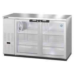 """Hoshizaki HBB-2G-LD-59-S 59 1/2"""" Bar Refrigerator - 2 Swinging Glass Doors, Stainless, 115v"""