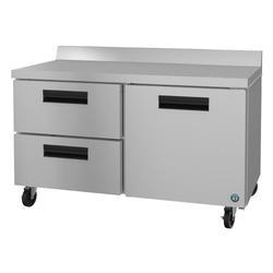 "Hoshizaki WR60A-D2 SteelHeart 60"" Worktop Refrigerator w/ (2) Sections, 115v"
