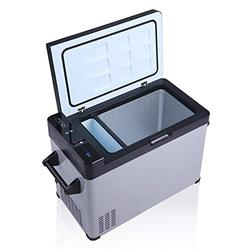 52-Quart Portable Refrigerator Freezer, 2 IN 1, -7.6°F to 68°F Quick Cooling Portable Car Refrigerator with LCD Display for Home, Shockproof Large Cooler for Outdoor RV Camping Travel, One Door
