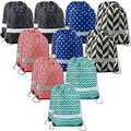 20 Pieces Geometric-Drawstring-Backpacks-Bags-Pattern String Bags Reflective Wrapping Gift Cinch Bag for Party