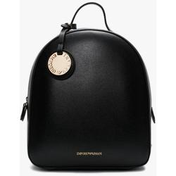 Small Black Pebbled Backpack - Black - Emporio Armani Backpacks