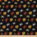 Camelot Quilt Fabrics 0590417 Quilt Fabric The Big Bang Theory Atoms in, 1.0, Quilt Fabric By The Yard, Black, Piece