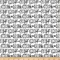 Camelot Quilt Fabrics 0590420 Quilt Fabric The Big Bang Theory Math Cat in, 1.0, Quilt Fabric By The Yard, White, Piece