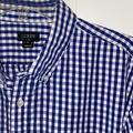 J. Crew Shirts | 2$20 Mens Button Collar Jcrew Xl Ls Gingham Shirt | Color: Blue/White | Size: Xl