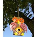 Red Carpet Studios Windchimes 2/1/20 - Brown & Red Owl Wood Birdhouse