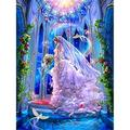 BD.Y 5D DIY Diamond Painting Kits Full Drill Beautiful Fairy Picture Adults Kids Crystal Rhinestone Embroidery Cross Stitch Canvas Art Craft for Living Bedroom Wall Decor Gift 40x50c