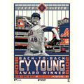 """""""Phenom Gallery Jacob deGrom New York Mets Back-to-Back NL Cy Young Award Winner 18'' x 24'' Serigraph Limited Edition Poster Art Print"""""""