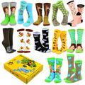 """Tarzanimals"" Little Tarzan and Animals Women's Novelty Crew Socks with Gift Box (Crew_Tarzanimal_1812)"