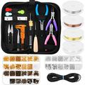 Jewelry Making Supplies Kit, Paxcoo Jewelry Making Kit with Jewelry Making Tools, Jewelry Wires and Jewelry Findings for Jewelry Making, Repair and Beading