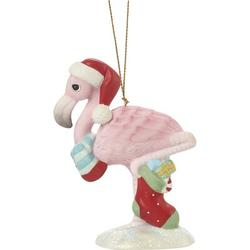 Precious Moments Wishing You An Out-Standing Christmas Annual Animal Bisque Porcelain Hanging Figurine Ornament Ceramic/Porcelain in Pink/Red