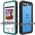 iPod Touch Waterproof Case for iPod Touch 7 Touch 6 Touch 5 Case, OWKEY Full Body Rugged Case Protection Built in Screen Protector Shock Dirt Snow Proof Protective Cover for iPod Touch 7th/6th/5th Gen
